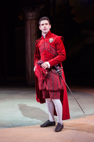 Adam Kantor as Proteus in Shakespeare''s The Two Gentlemen of Verona, directed by Mark Lamos, Aug. 10 - Sept. 14, 2014 at The Old Globe. Photo by Jim Cox.
