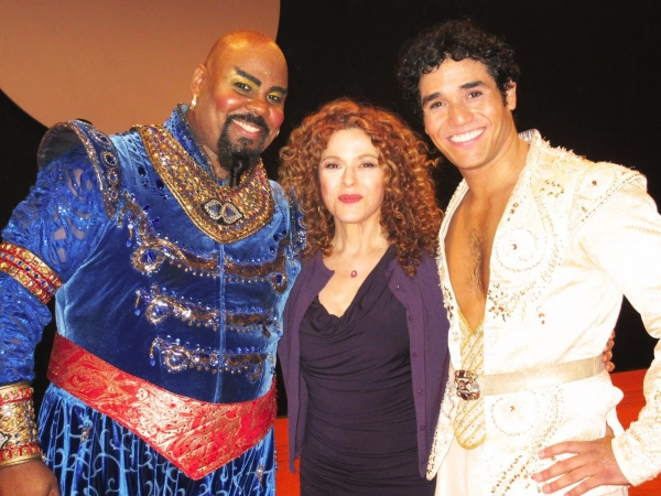 Photo Flash: Bernadette Peters Visits James Monroe Iglehart & Adam Jacobs at Broadway's ALADDIN