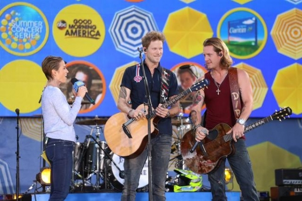 Photo Flash: Florida Georgia Line Performs on GMA's Summer Concert Series