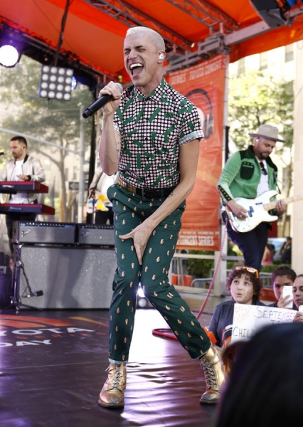 Photo Flash: Neon Trees Rock the TODAY Show Plaza