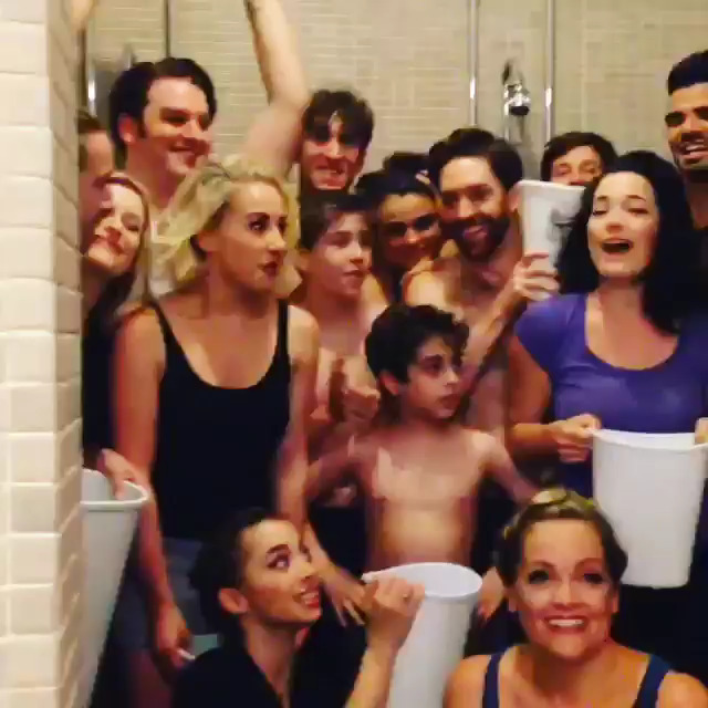 FINDING NEVERLAND Does ALS Ice Bucket Challenge & Nominates KINKY BOOTS