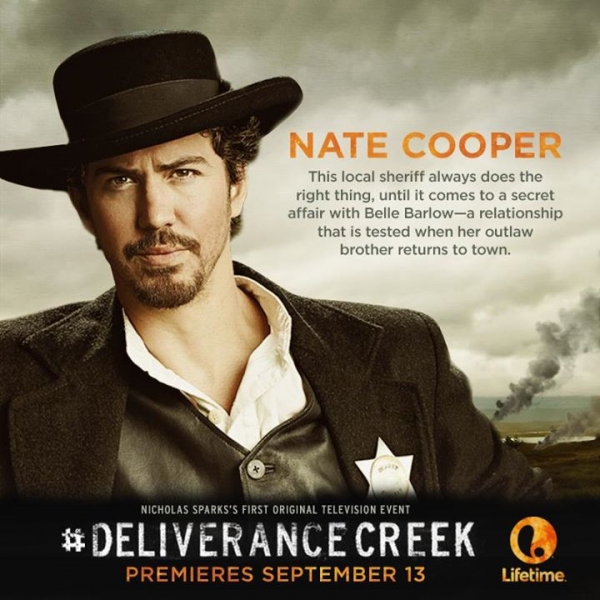 Photo Flash: First Look - Character Posters for Nicholas Spark's DELIVERANCE CREEK, Premiering on Lifetime