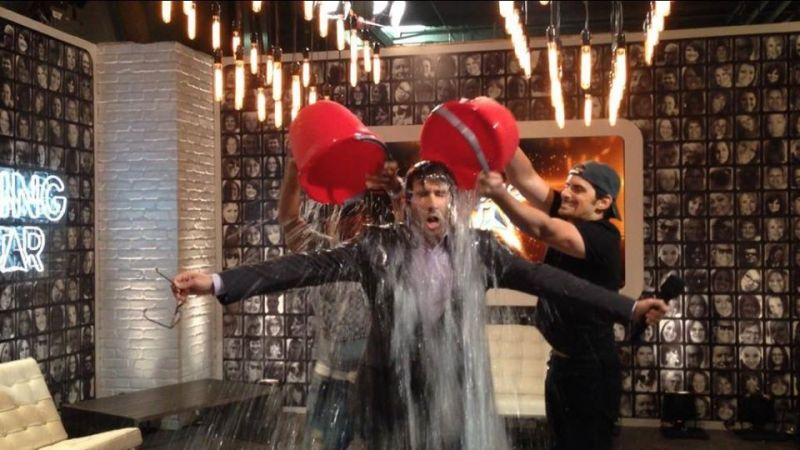 Josh Groban Takes ALS Ice Bucket Challenge With Help From Ludacris & Brad Paisley