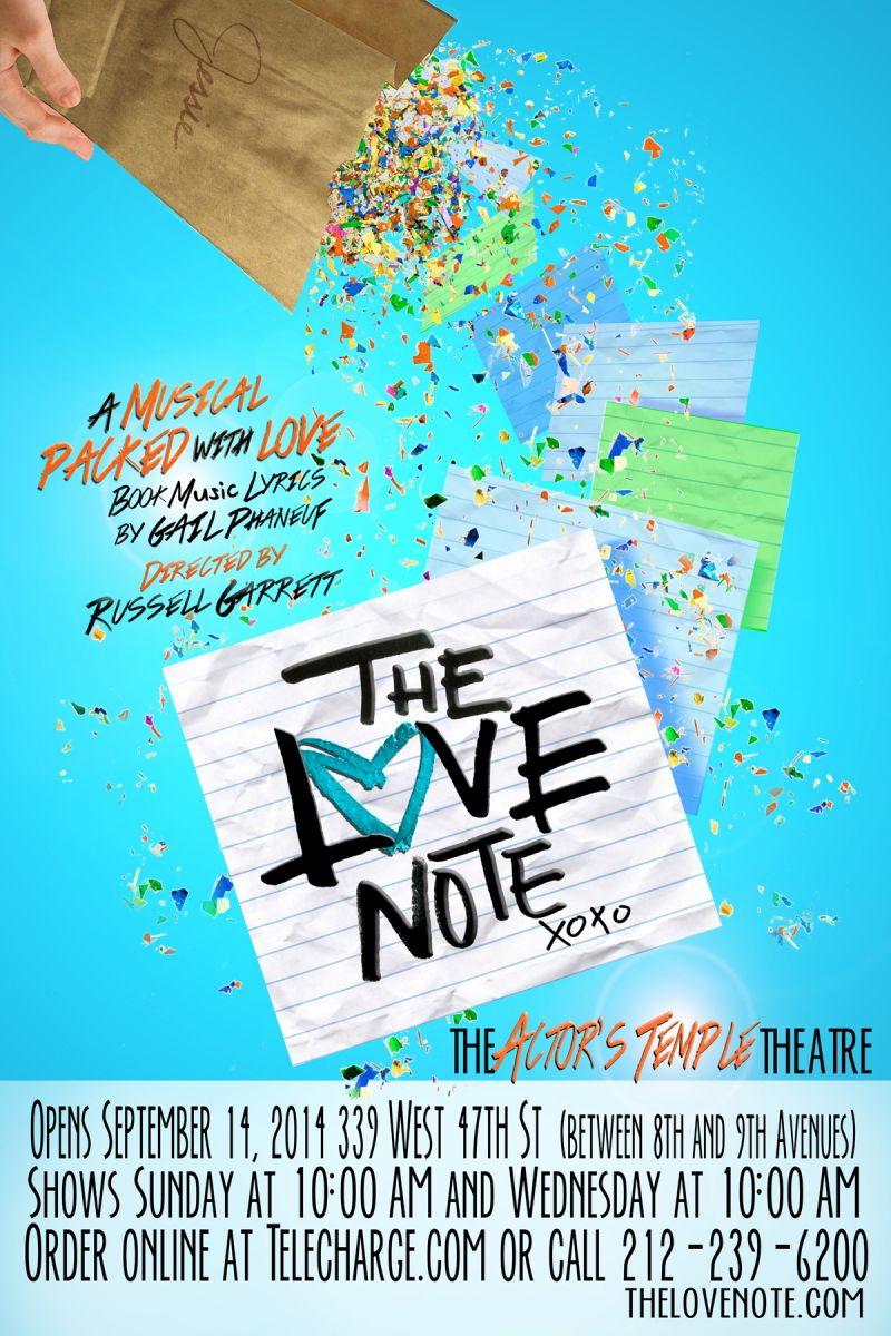 G.P. Productions' THE LOVE NOTE to Open 9/14 Off-Broadway