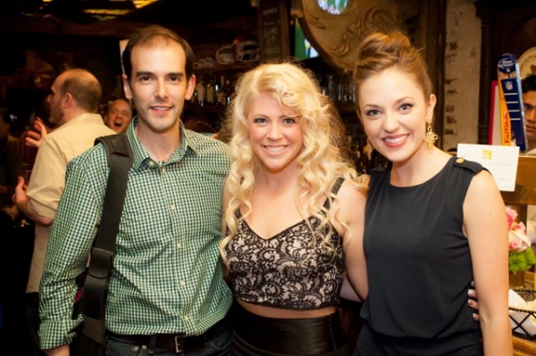 Marc Bruni, Erin Sullivan, and Laura Osnes