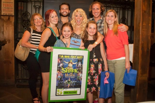 Erin Sullivan and Cast of 2011 Tour of SHREK
