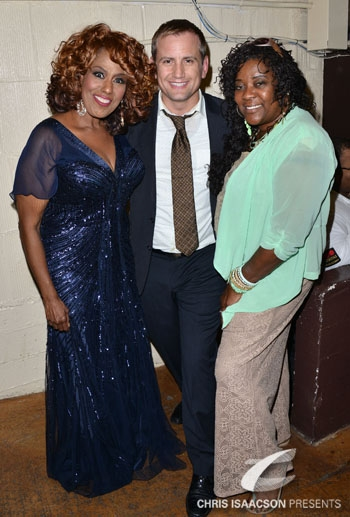 Jennifer Holliday, producer Chris Isaacson and Loretta Devine