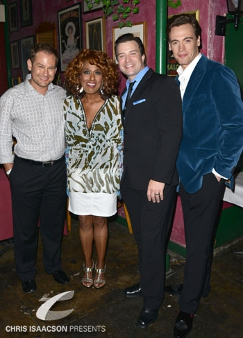 Chad Kimball, Jennifer Holliday, Danny Gurwin and Erich Bergen