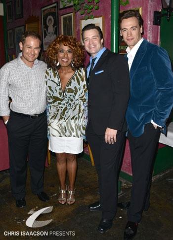Chad Kimball, Jennifer Holliday, Danny Gurwin and Erich Bergen Photo