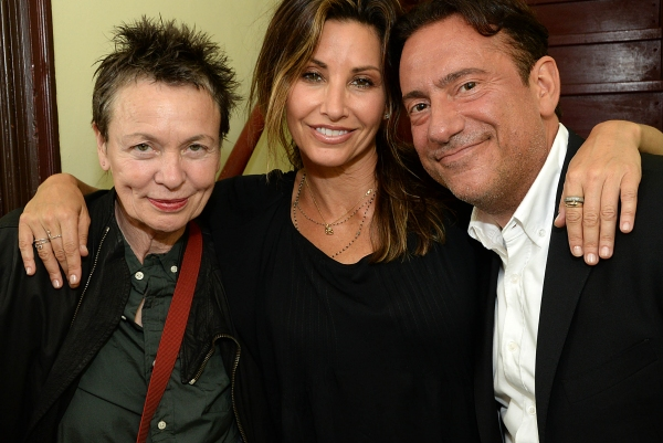 Laurie Anderson, Gina Gershon, Eugene Pack Photo
