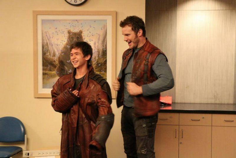 Chris Pratt Pays Visit to LA Children's Hospital Dressed as 'GUARDIANS' Character