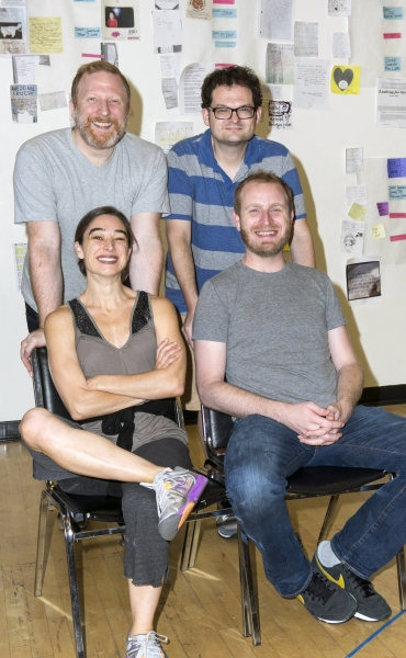 Hunter Bell, Composer and Lyricist Eli Bolin, Director and book-writer Lee Overtree and Choreographer Monica Bill Barnes