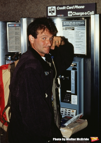 Robin Williams pictured in New York City in 1985.
