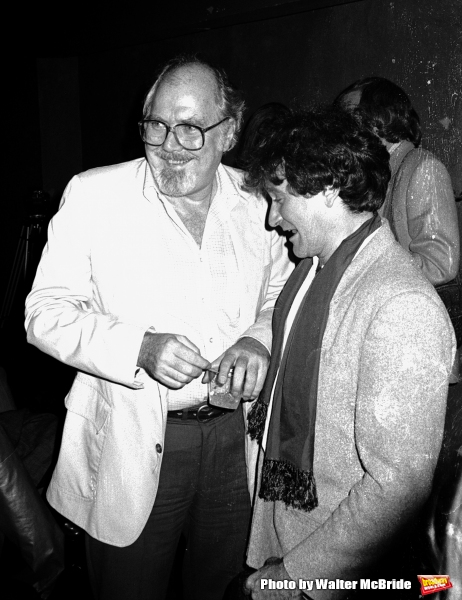 Robert Altman & Robin Williams.Attending a party celebrating the release of TIME BANDITS at the Underground Disco in New York City..January 4, 1981.© Walter McBride /