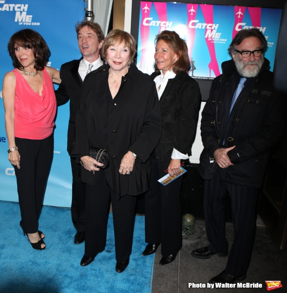 Andrea Mariin, Martin Short, Shirley MacLaine, Guest & Robin Williams.attending the Broadway Opening Night Performance of ''Catch Me If You Can'' at the Neil Simon Theatre in New York City.