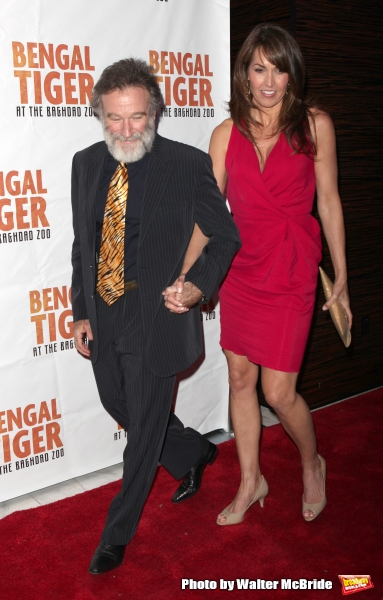 Robin Williams & Susan Schneider.attending the Broadway Opening Night After Party for ''Bengal Tiger at the Baghdad Zoo'' at espace in New York City