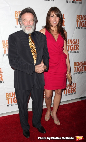 Robin Williams & Susan Schneider.attending the Broadway Opening Night After Party for Photo