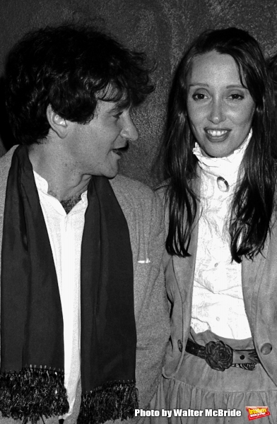 Shelley Duvall & Robin Williams Attending a party celebrating the release of TIME BANDITS at the Underground Disco in New York City. January 4, 1981