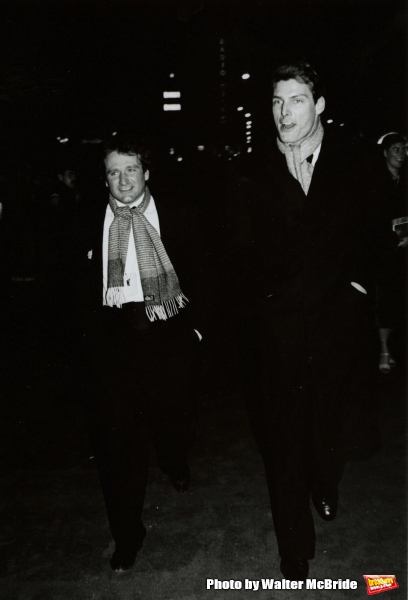 Robin Williams and Christopher Reeve Attending a Broadway Show in New York City. Marc Photo