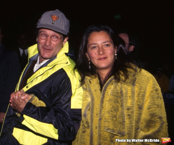 Robin Williams with wife Marsha at the Premiere of ''The Mirror has Two Faces'' at the Zeigfeld Theatre on November 11, 1996 in New York City.