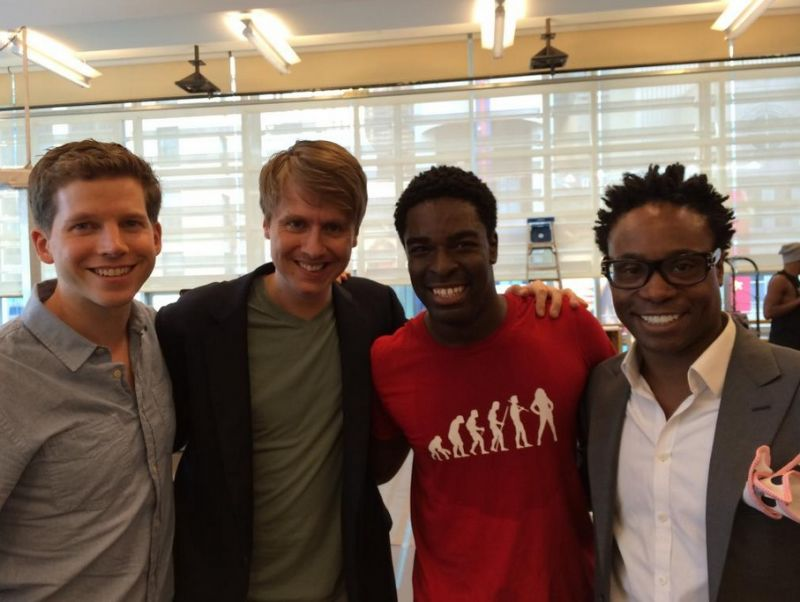 Twitter Watch: Billy Porter, Stark Sands, Aaron Tveit & More Visit KINKY BOOTS Tour in Rehearsal