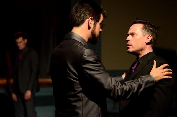 Dillon Medina as Brutus and Aaron Morris as Cassius