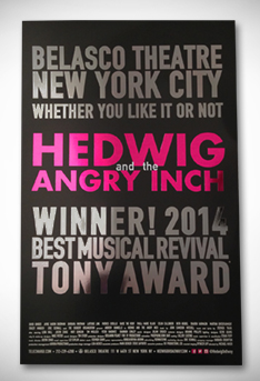 New Windowcard Unveiled For HEDWIG & THE ANGRY INCH
