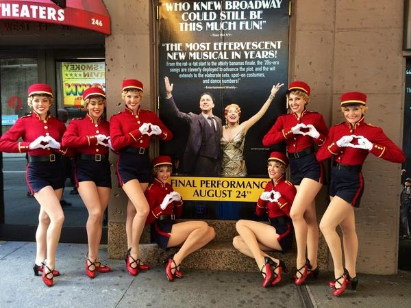 Photo Flash: Saturday Intermission Pics, Aug 23 - Broadway Bids NEWSIES and BULLETS OVER BROADWAY Goodbye, & More!
