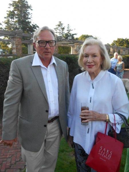 Southampton Historical Museum Director Tom Edmonds and Zita Davisson