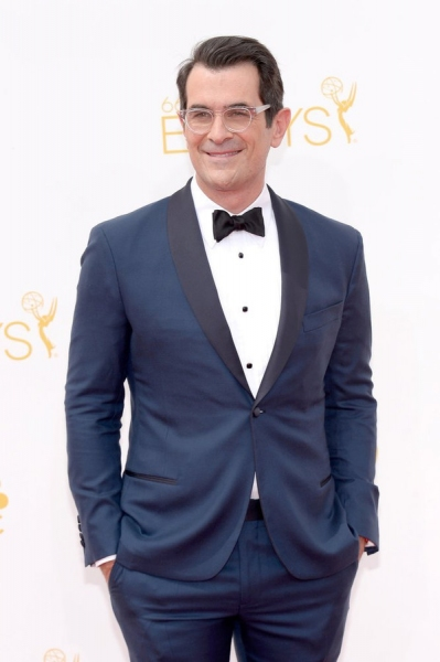 66th ANNUAL PRIMETIME EMMY AWARDS -- Pictured: Actor Ty Burrell arrives to the 66th Annual Primetime Emmy Awards held at the Nokia Theater on August 25, 2014 -- (Photo by: Kevork Djansezian/NBC)