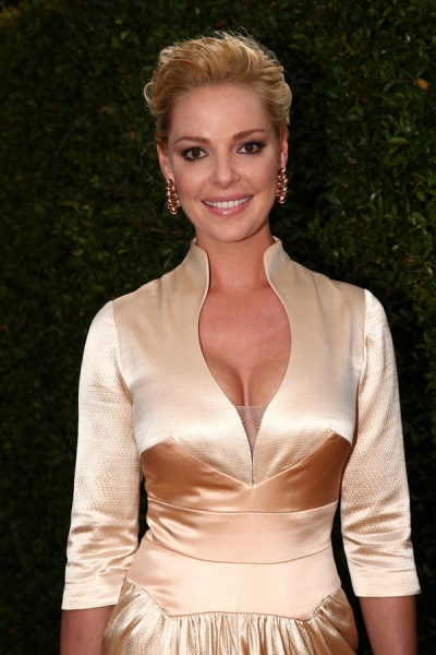 66th ANNUAL PRIMETIME EMMY AWARDS -- Pictured: Actress Katherine Heigl arrives to the 66th Annual Primetime Emmy Awards held at the Nokia Theater on August 25, 2014 -- (Photo by: Christopher Polk/NBC)