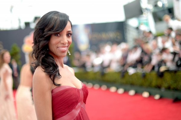66th ANNUAL PRIMETIME EMMY AWARDS -- Pictured: Actress Shaun Robinson arrives to the 66th Annual Primetime Emmy Awards held at the Nokia Theater on August 25, 2014 -- (Photo by: Jason Kempin/NBC)