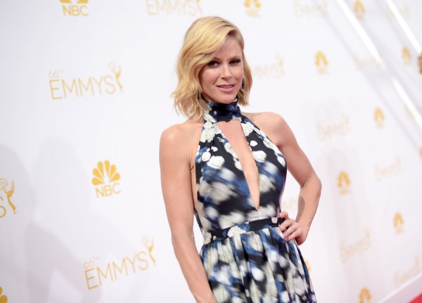 66th ANNUAL PRIMETIME EMMY AWARDS -- Pictured: (l-r) Actress Julie Bowen arrives to the 66th Annual Primetime Emmy Awards held at the Nokia Theater on August 25, 2014 -- (Photo by: Jason Kempin/NBC)