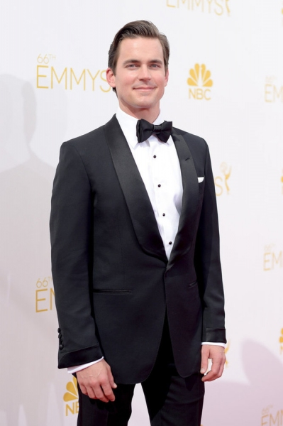 66th ANNUAL PRIMETIME EMMY AWARDS -- Pictured: Actor Matt Bomer arrives to the 66th Annual Primetime Emmy Awards held at the Nokia Theater on August 25, 2014 -- (Photo by: Jason Kempin/NBC)