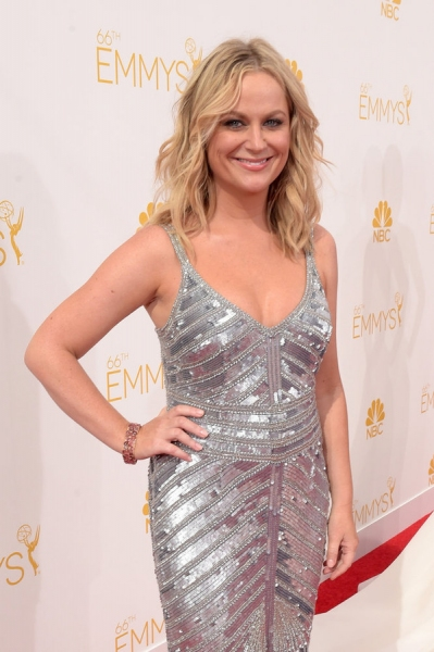 66th ANNUAL PRIMETIME EMMY AWARDS -- Pictured:  Actress Amy Poehler arrives to the 66th Annual Primetime Emmy Awards held at the Nokia Theater on August 25, 2014 -- (Photo by: Jason Kempin/NBC)