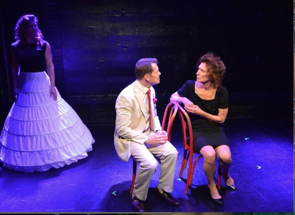Paul Thomas Ryan as Tennessee Williams and PennyLynn White as Laurette Taylor with K Photo