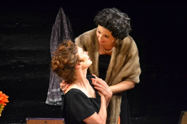 PennyLynn White as Laurette Taylor with Kimberly Faye Greenberg as Taylor''s daughter Photo