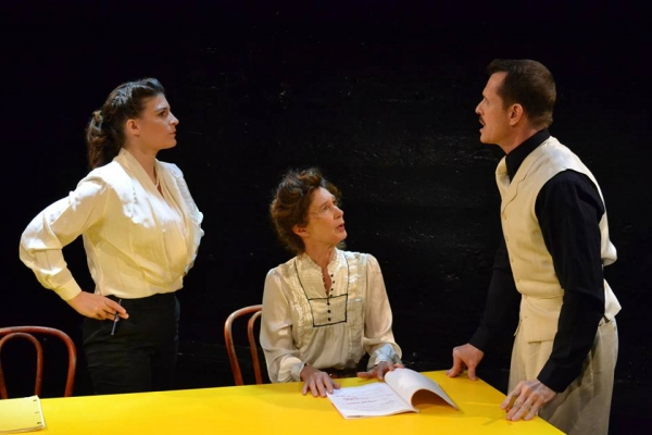 Kristen Gehling as Margo Jones, original director of ''The Glass Menagerie'', with PennyLynn White as Laurette Taylor and Paul Thomas Ryan as Tennessee Williams