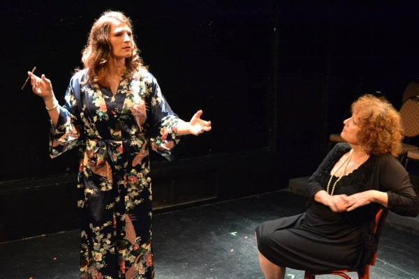 Kristen Gehling as Tallulah Bankhead with Laurie Sammeth as Dorothy Parker