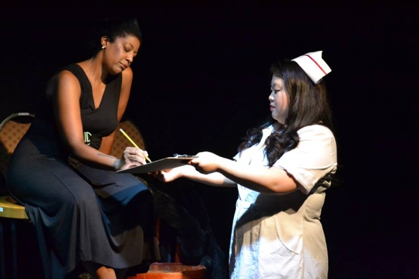 Suzanne Froix as Billie Holiday with Somie Pak as The Nurse Photo