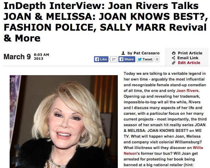 Breaking News: Legendary Comedian Joan Rivers Dies at 81