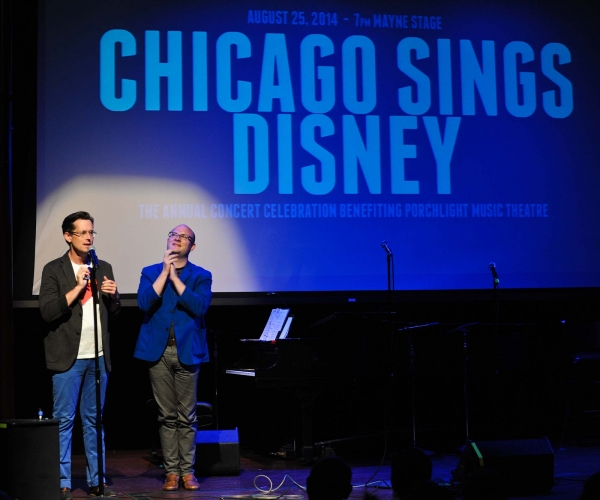 Chicago Sings Disney Porchlight Music Theatre Artistic Associates and co-creators of Chicago Sings Rob Lindley and Doug Peck