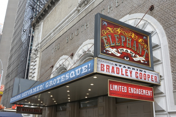 'Hideous! Deformed! Grotesque!' Broadway's ELEPHANT MAN Brings Booth Theatre Exterior Into the 19th Century
