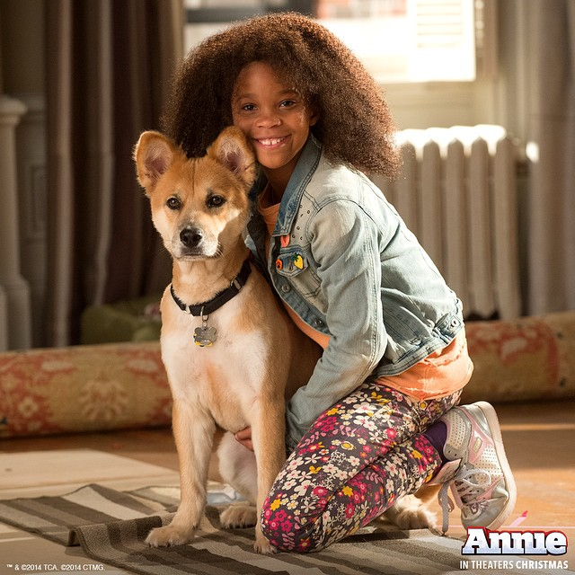 Annie & Sandy In New Production Photo From ANNIE Remake