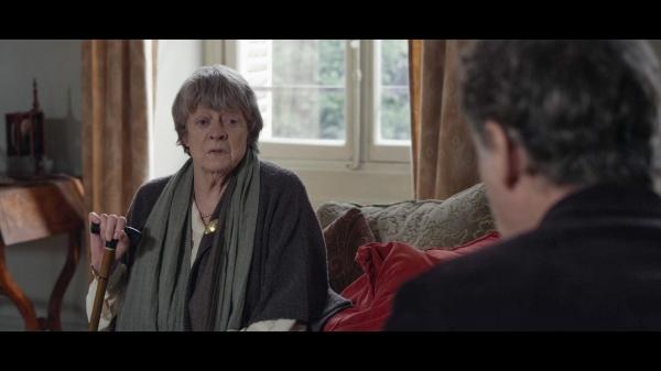 Maggie Smith as Mathilde Girard (foreground: Kevin Kline as Mathias Gold)