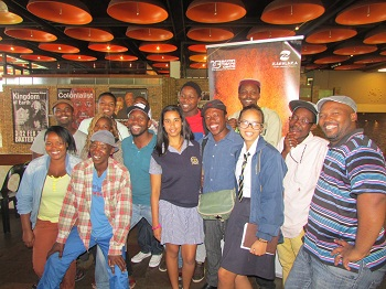 Some of the participants at the  2014 Zabalaza Theatre Festival launch