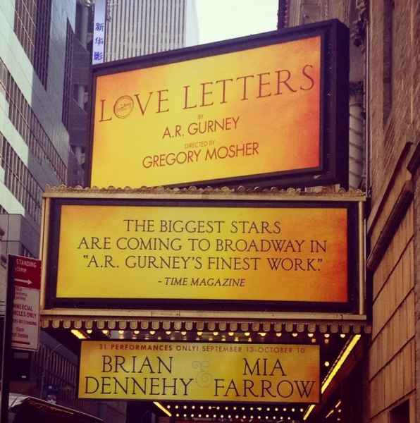 Up on the Marquee: LOVE LETTERS