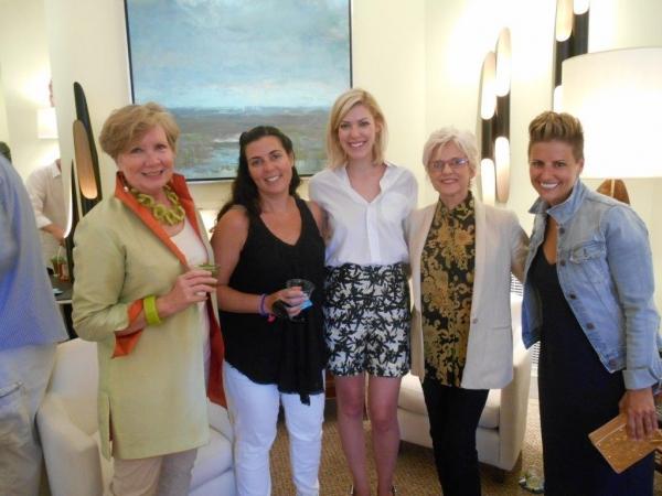 Elizabeth Hagins, Jen Koen,  Elizabeth Brown, artist Linda Fantuzzo, Rachel Rodin Photo