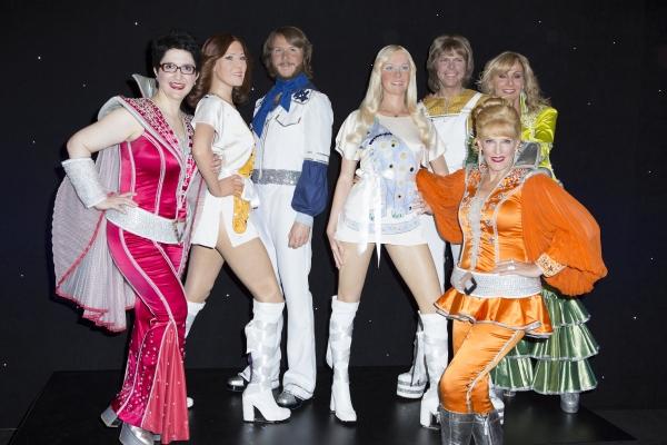 Lauren Cohn, Stacia Fernandez, Judy McClane and the ABBA Figures