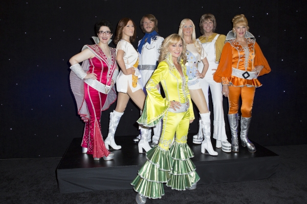 Lauren Cohn, Judy McClane, Stacia Fernandez and the ABBA Figures